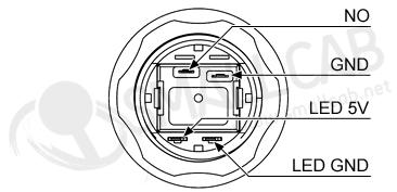 bouton lumineux blanc - 24mm aio  smallcab