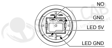 bouton lumineux blanc - 28mm aio  smallcab