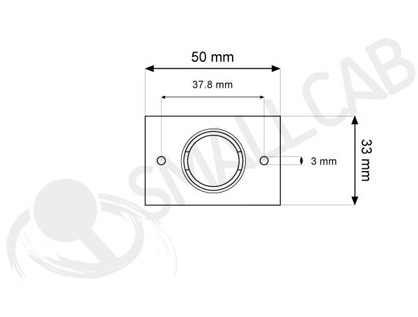 Rectangular illuminated button diagram