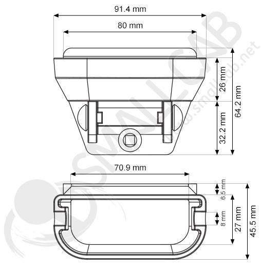 Schema cendrier basculant
