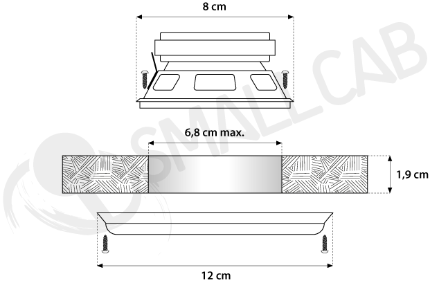 Installation diagram 8cm speaker