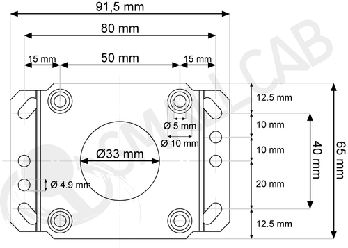Seimitsu SS Mounting Plate for LS-32/LS-40 Diagram