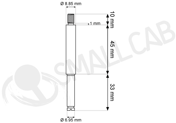 Diagram Sanwa JL-S9F Semi long and hollow shaft