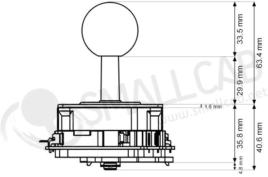 joystick seimitsu ls-40-01 - vert  smallcab