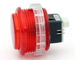 Seimitsu PSL-30N-5W2 bright button Transparent - Red