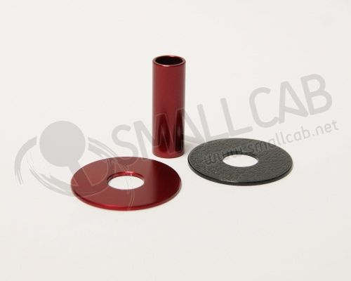 Sanwa JLF-CD Shaft Cover aluminium rouge