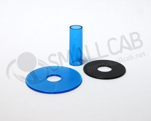 Sanwa JLF-CD Shaft Cover bleu transparente
