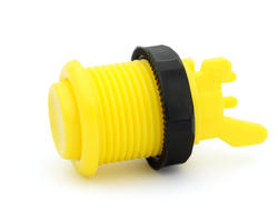 Concave bright yellow short arcade button - IL PSL-H