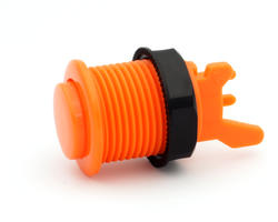Short arcade button orange convex