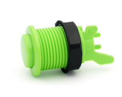 Short arcade button convex apple green