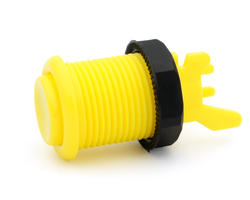 Concave long bright yellow arcade button