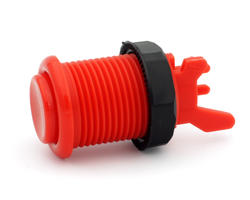 Concave long red arcade button - IL PSL-L