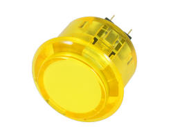 Bouton clipsable translucide jaune 30mm