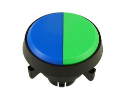 Dual button - blue green 29 mm screw