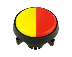 Bouton double - jaune rouge 29mm vissable