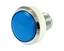 Flat blue light button 46mm screw