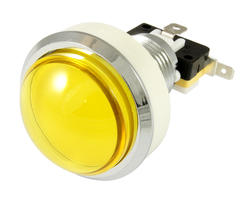 Convex yellow light button 46mm screw