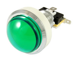 Convex green light button 46mm screw
