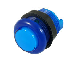 Blue illuminated button - 28mm AIO