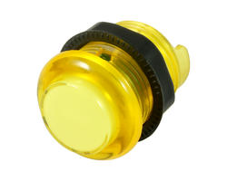 Yellow illuminated button - 28mm AIO