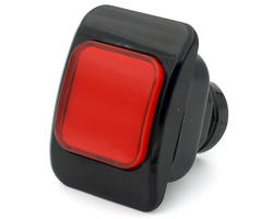 Bouton lumineux rectangulaire rouge