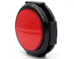 "Flat red button ""light"" 28/86mm screw"
