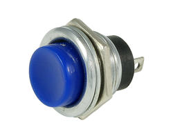 Service button - 16mm blue