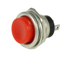 Service button - 16mm red