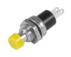 Service button - 7mm yellow