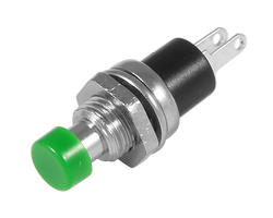 Service button - 7mm green