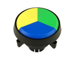 Triple button - yellow green blue 29 mm screw