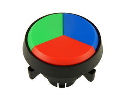 Triple button - green blue red 29 mm screw