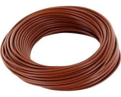 Brown cable - 0.75mm by 1m