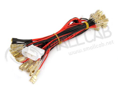 cable d 39 alimentation molex pour boutons lumineux smallcab. Black Bedroom Furniture Sets. Home Design Ideas