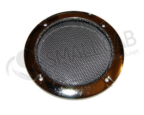 grille de haut parleur chrome 120mm smallcab. Black Bedroom Furniture Sets. Home Design Ideas