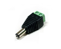 Connector male Jack 5.5mm / 2.1mm screwable