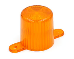 Orange flasher dome with screw tabs