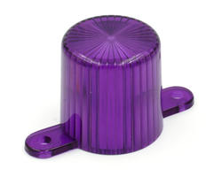 Purple flasher dome with screw tabs