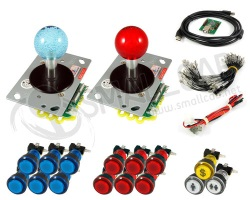 Kit joystick luce / tasti brillanti e interfaccia USB
