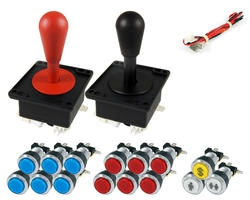 Pear kit joysticks / bright chrome buttons