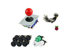 Kit standard joystick / buttons - 1 player for Raspberry