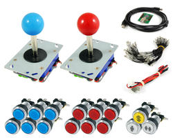 Kit Joysticks Zippy / boutons lumineux chromes et interface USB