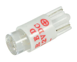 Ampoule wedge - led T10 12V rouge