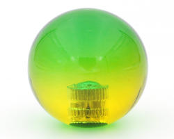 Two-tone ball top - green and yellow