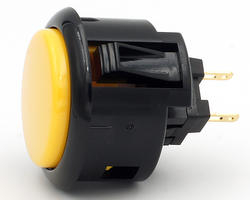 Sanwa OBSFS-30-K - Yellow and black rim