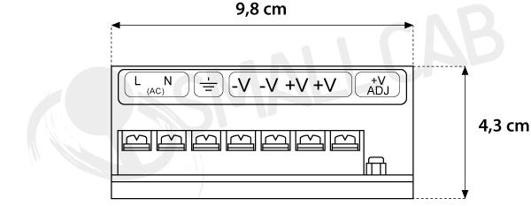 12V5A terminal power supply