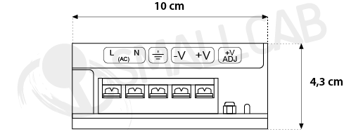 Diagram Power supply 5V/12A - Terminals