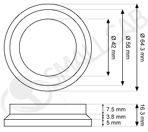 Diagram Rubber Base for Leg Levelers