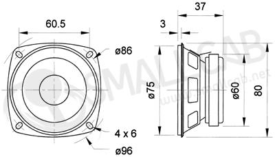 haut parleur 8cm 8ohms 10w smallcab votre arcade shop. Black Bedroom Furniture Sets. Home Design Ideas