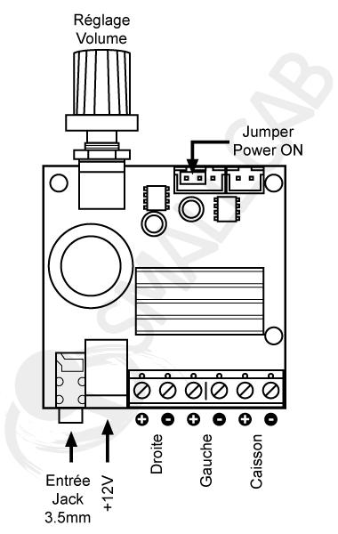 Mini stereo audio amplifier 2.1 Diagram